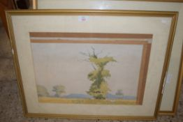 THREE FRAMED WATERCOLOURS, LANDSCAPES, SIGNED P D COLLYER DATED 1980, EACH APPROX 34 X 52CM