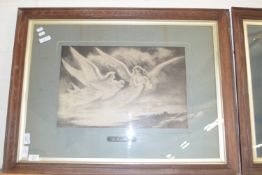 PAIR OF LARGE PRINTS OF ANGELS ENTITLED THE PROMISE OF LIFE AND THE ANGEL OF PEACE, EACH APPROX 32 X