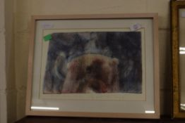 """FRAMED DRY POINT """"F LISZT MISSA CHORALIS"""" INDISTINCT SIGNATURE IN PENCIL, GALLERY PRICE TAG £365"""