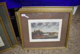 """SET OF FOUR FRAMED COACHING PRINTS """"FORES'S COACHING RECOLLECTIONS"""", EACH FRAME SIZE APPROX 54CM"""