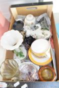 BOX CONTAINING QTY OF VARIOUS HOUSEHOLD CERAMICS
