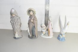 SELECTION OF FOUR NAO FIGURES
