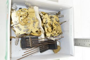 BOX CONTAINING QTY CLOCK AND WATCH MOVEMENTS