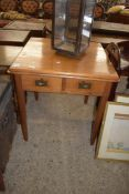 SMALL SQUARE OCCASIONAL TABLE WITH DRAWERS BENEATH, APPROX 70CM