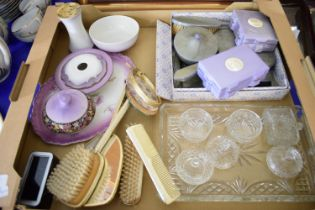 BOX CONTAINING DRESSING TABLE SETS