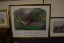 FRAMED TATE GALLERY POSTER, WIDTH APPROX 77CM