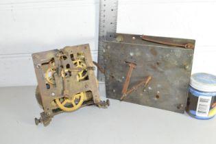 BOX CONTAINING CLOCK PARTS