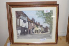TWO LOCAL INTEREST WATERCOLOURS BY C A IRVING