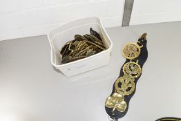 LARGE QTY OF HORSE BRASSES