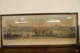 """FRAMED PRINT """"SOUTH VIEW OF NOTTINGHAM FROM THE RYE HILLS IN 1741"""" AS PRESENTED TO THE SUBSCRIBERS"""