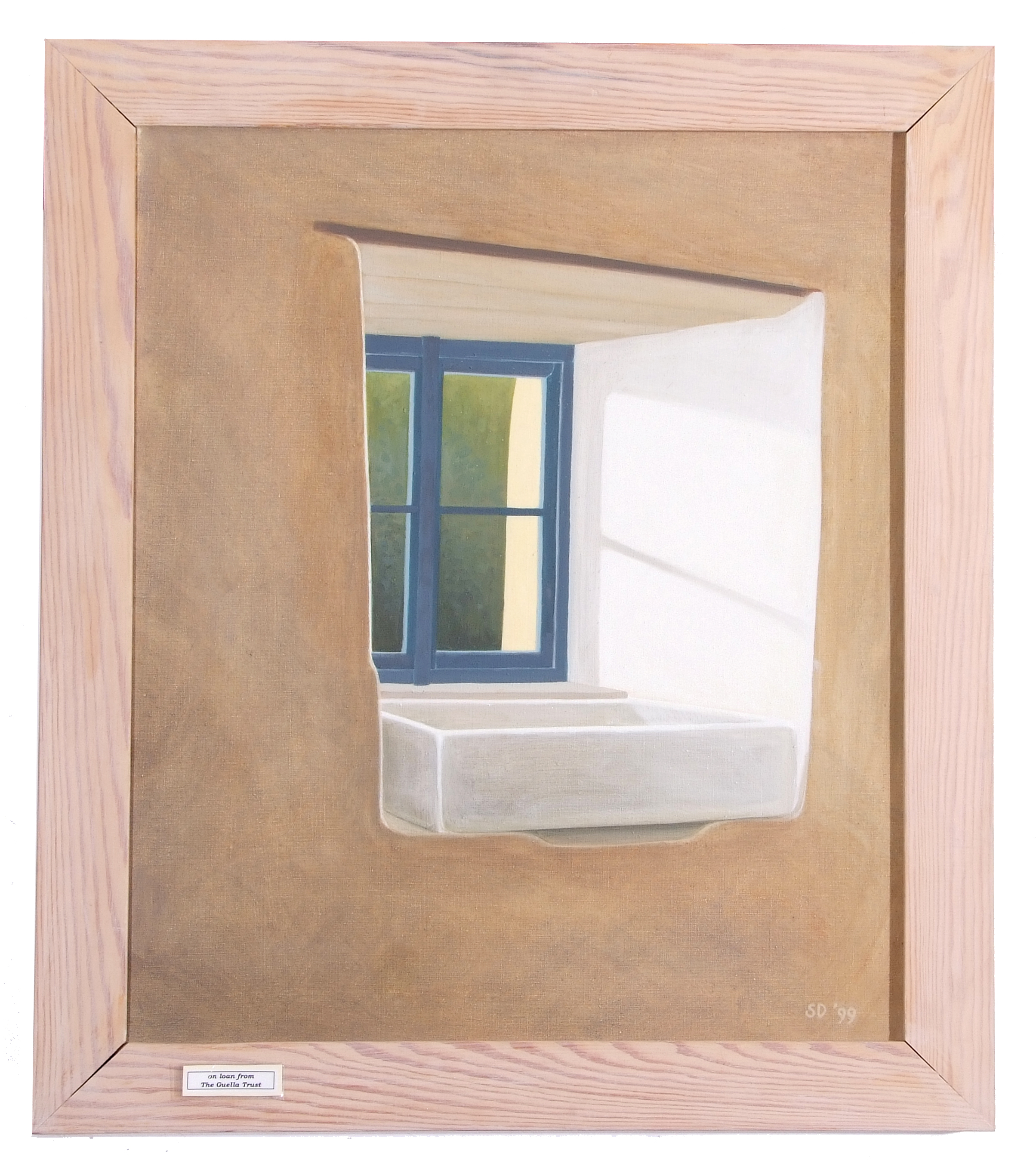 Sarah Devereau, Kitchen Window, Oil on canvas, signed, dated, 23.5 x19.5ins.