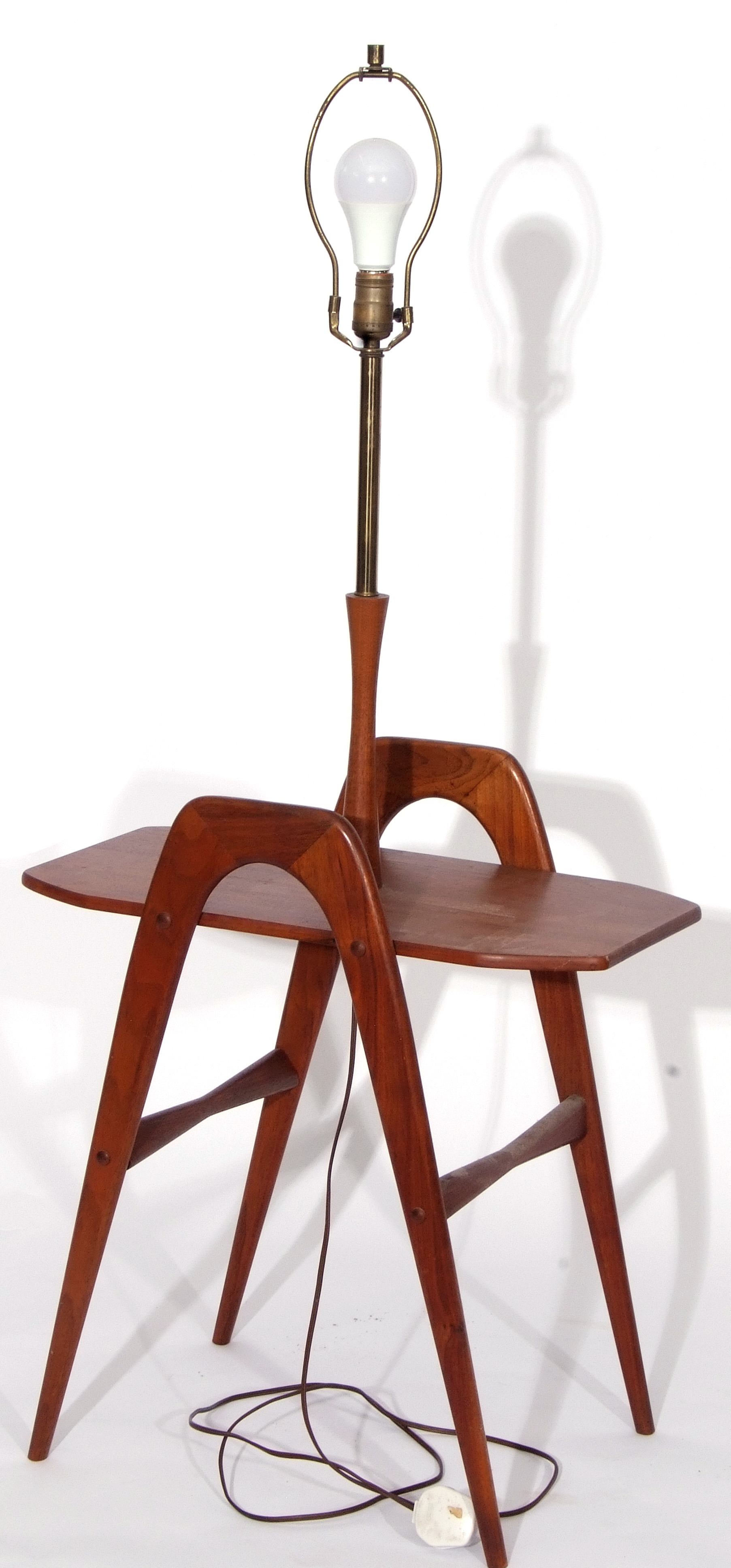 Circa 1960s Danish style magazine table with inset lamp holder - Image 2 of 2