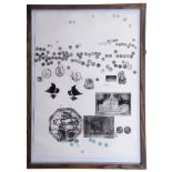 """AR Colin Self (born 1941), """"King Agamemnon's Navy"""" (from The Odyssey Series)¦black and white etching"""