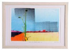 "AR Claire Johnson (20th century), ""Looking North towards Britannia Pier"", coloured lithograph, 39"