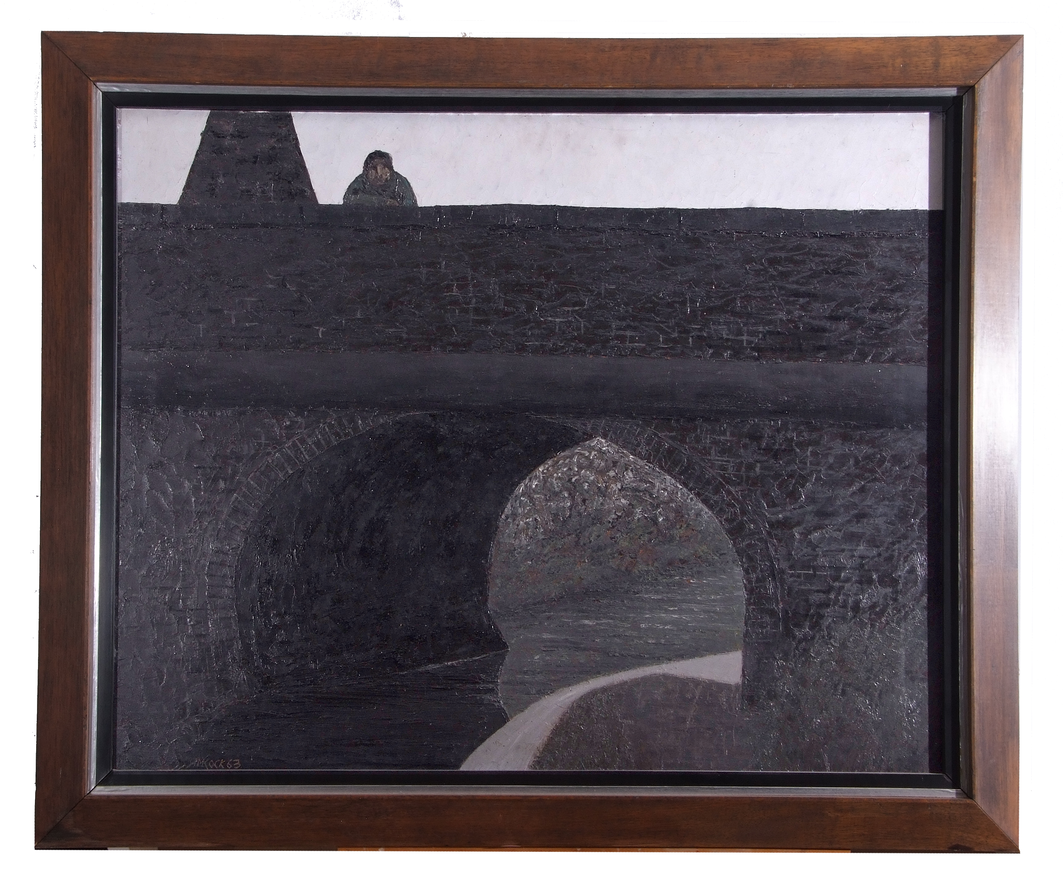 Jack Simcock, View from the Bridge , Oil on board, signed dated, 23.5 x 30ins.