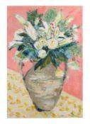 Linda Patrick, Floral still life, Acrylic on canvas, signed, 35.5 x 24ins, unframed.