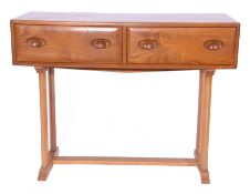 Circa 1960s Ercol style dressing table with two drawers