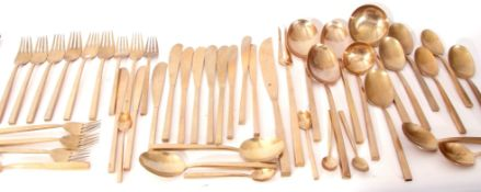 Large quantity of bronzed cutlery in the style of Bernadotte for the Scanline manufactured in the