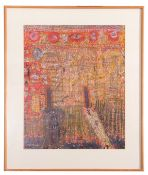 Shafique Uddin, British Contemporary, Abstract , Gouache on paper, signed, 25 x 20ins.