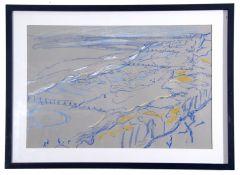 Josey Brett, Seascape , Oil on bars on paper, signed, 15 x 23.5ins.