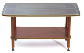 Small coffee table with wooden shelf beneath