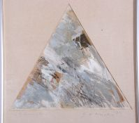 E. H. Moody, British Contemporary, No.3 in Silver, Mixed media on paper, signed, dated , 33.5 x 23.
