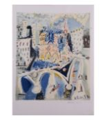 Pablo Picasso, Notre Dame, Limited edition lithograph from the Marina Picasso Collection, printed by