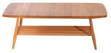 Ercol style rectangular coffee table