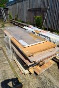 LARGE QUANTITY OF TIMBER DOORS AND COVINGS