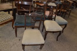 SIX VARIOUS UPHOLSTERED CHAIRS