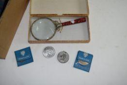 LARGE BOX CONTAINING VARIOUS BRITISH COMMEMORATIVE CROWNS, BRITAIN'S FIRST DECIMAL COINS IN ORIGINAL
