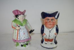 TWO 19TH CENTURY STAFFORDSHIRE TOBY JUGS