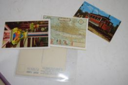 BOX OF VARIOUS POSTCARDS TO INCLUDE TRANSPORT AND ARCHITECTURAL INTEREST