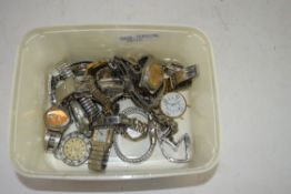 BOX CONTAINING LADIES AND GENTS WRIST WATCHES