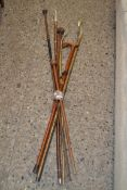 ETHNOGRAPHICA/TRIBAL INTEREST, A MIXED LOT, THREE KNOBKERRI TYPE WALKING STICKS, TOGETHER WITH