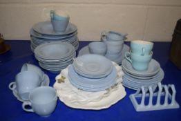 QTY OF JOHNSON BROS BLUE DAWN DINNER WARES