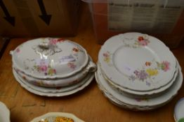 QTY BOOTH FLORAL PATTERN DINNERWARE