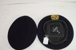 VINTAGE CIVIL DEFENCE CORPS BERET AND ONE OTHER