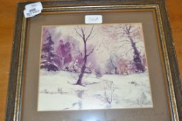 FRAMED PRINT OF A SHIRLEY CARNT PAINTING