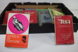BOX CONTAINING LARGE QTY OF MOTORCYCLE INTEREST BOOKS
