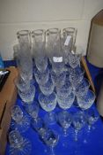 MIXED LOT VARIOUS 20TH CENTURY CUT GLASS DRINKING GLASSES