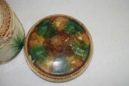 19TH CENTURY MOULDED CHEESE DISH DECORATED WITH BIRDS