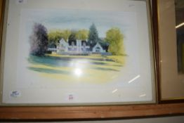 STUDY OF A COUNTRY HOUSE, POSSIBLY SCOTTISH