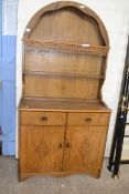 REPRODUCTION ARCHED DRESSER WITH CARVED DECORATION THROUGHOUT, WITH APPROX 92CM