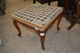 UPHOLSTERED SQUARE STOOL, APPROX 53CM
