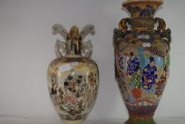 TWO LARGE EARLY 20TH CENTURY JAPANESE VASES