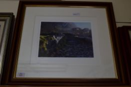 FRAMED LIMITED EDITION PRINT, SIZE APPROX 62CM