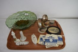 TRAY OF MIXED ITEMS TO INCLUDE MOTHER OF PEARL ETUI TYPE CASE PLUS ANOTHER SIMILAR, VIEWMASTER 3D