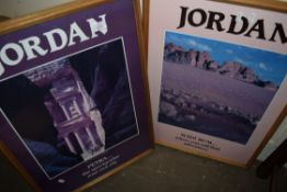 TWO FRAMED JORDAN TOURISM POSTERS