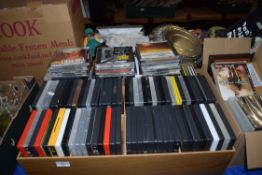 THREE BOXES DVDS AND CDS